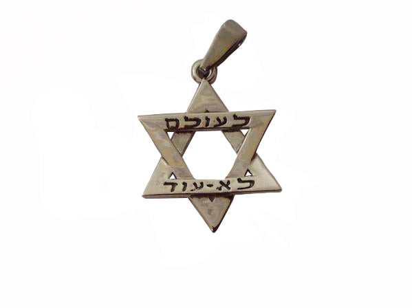 Star of David - Never Again Pendant (Hebrew) / #HO3