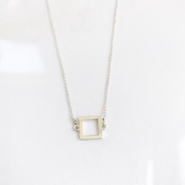 Simple Square Pendant - #OSP2