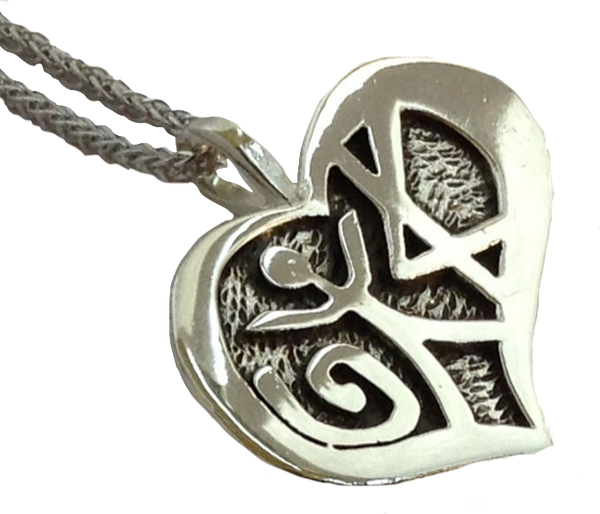 Love Pendant – Oxidized