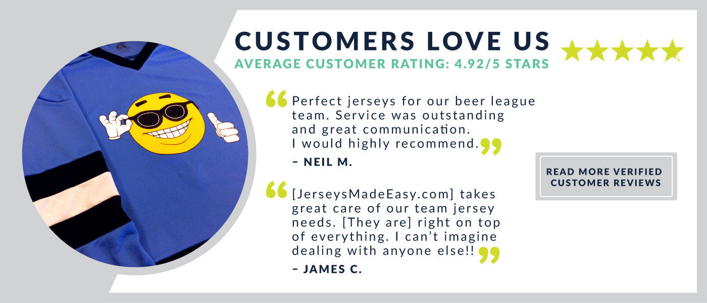JerseysMadeEasy.com Customer Reviews