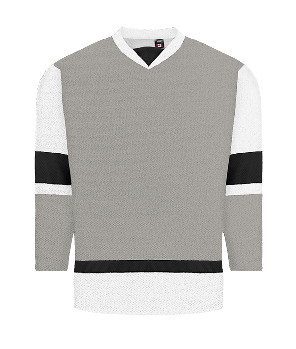 House League Jersey: Grey/White/Black