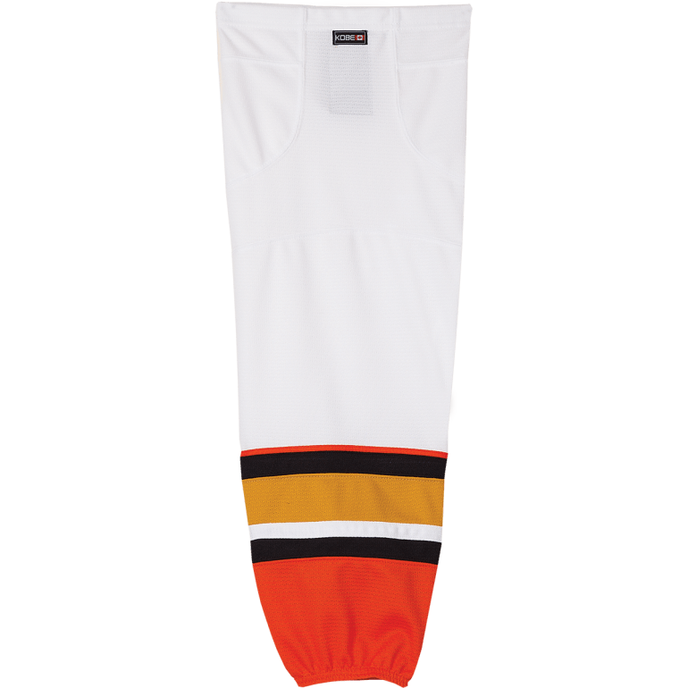 Premium NHL Pattern Socks: Anaheim Ducks White - Canadian Jersey Superstore