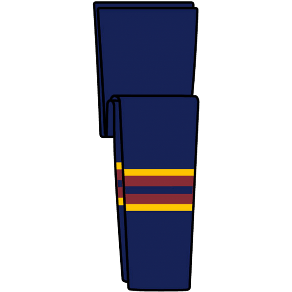 Knit Retro NHL Pattern Socks: Atlanta Thrashers 1999 Navy - Canadian Jersey Superstore