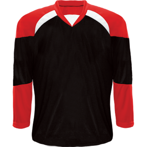 Economical Team Jersey: Black/Red/White