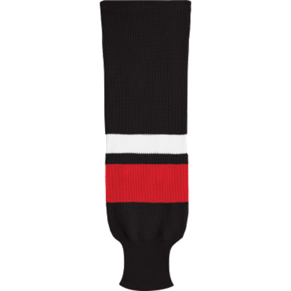 Knit Alternative Colour Socks: Black/Red/White - Canadian Jersey Superstore