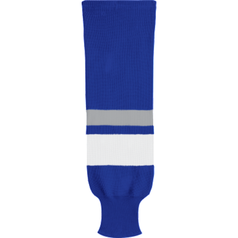 Knit Alternative Colour Socks: Royal Blue/White/Grey - Canadian Jersey Superstore