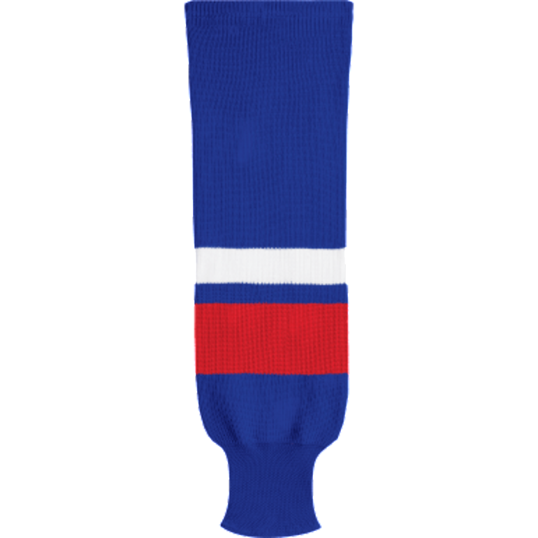 Knit Alternative Colour Socks: Royal Blue/Red/White - Canadian Jersey Superstore