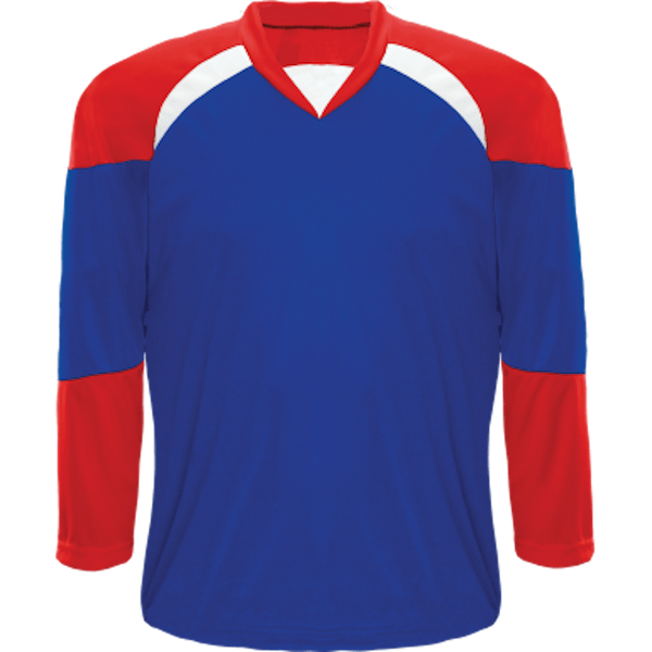 Economical Team Jersey: Royal Blue/Red/White