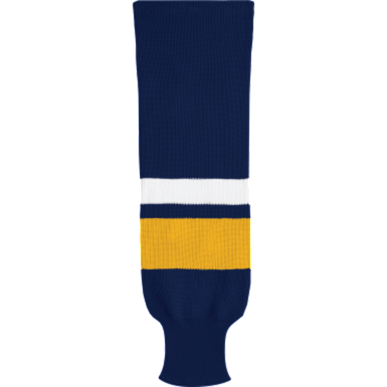 Knit Alternative Colour Socks: Navy/Gold/White - Canadian Jersey Superstore