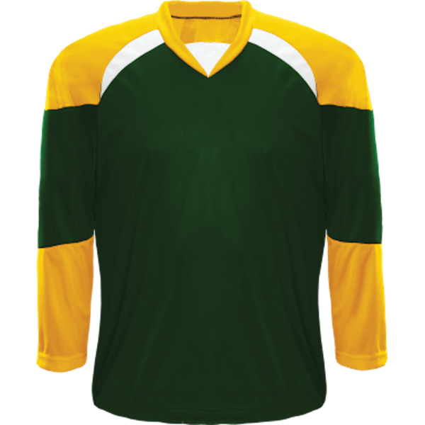 Economical Team Jersey: Forest Green/Gold/White