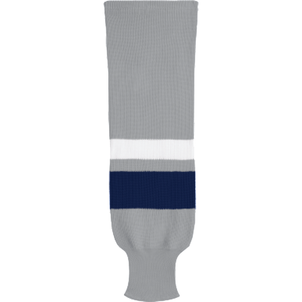 Knit Alternative Colour Socks: Grey/Navy/White - Canadian Jersey Superstore
