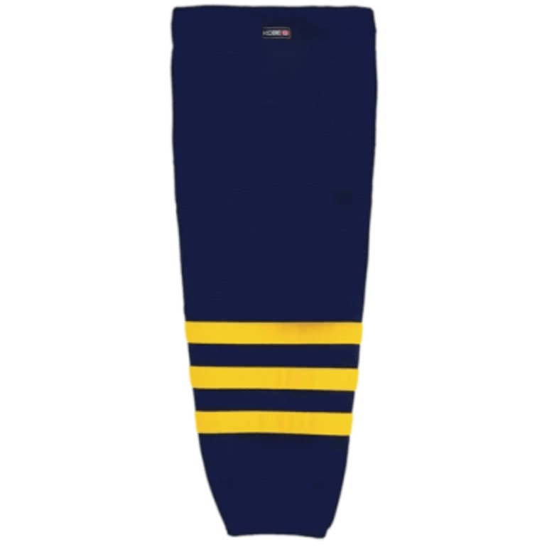 Premium NHL Pattern Socks: Michigan University Navy