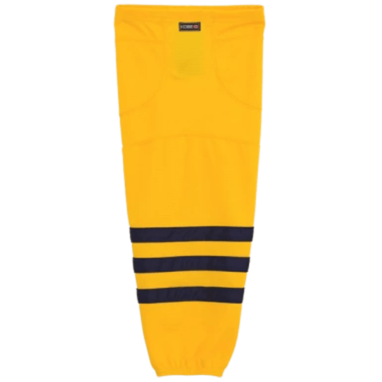 Premium NHL Pattern Socks: Michigan University Gold
