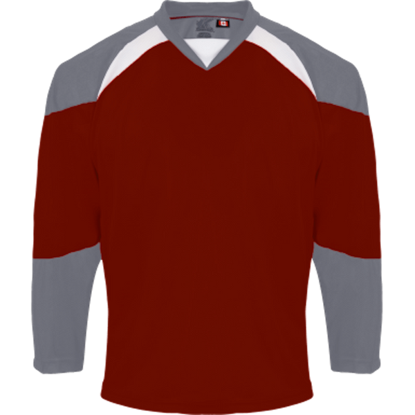 Economical Team Jersey: Maroon/Grey/White