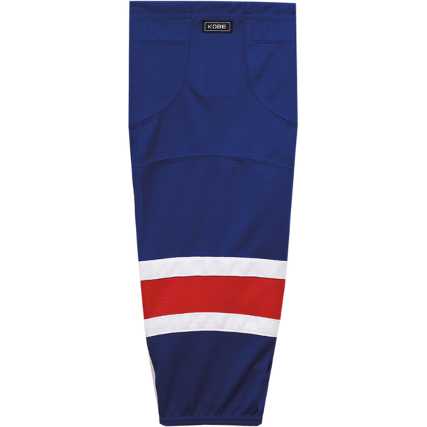 Premium NHL Pattern Socks: New York Rangers Blue - Canadian Jersey Superstore