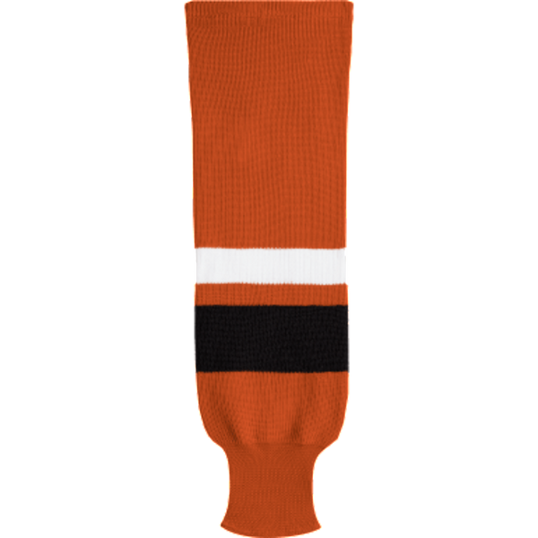 Knit Alternative Colour Socks: Orange/Black/White - Canadian Jersey Superstore