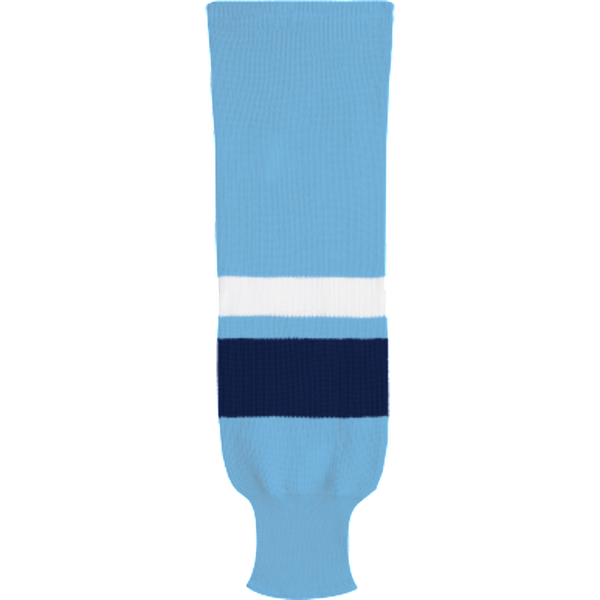 Knit Alternative Colour Socks: Powder Blue/Navy/White - Canadian Jersey Superstore