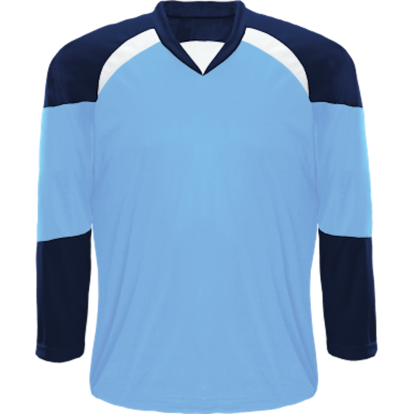 Economical Team Jersey: Powder Blue/Navy/White