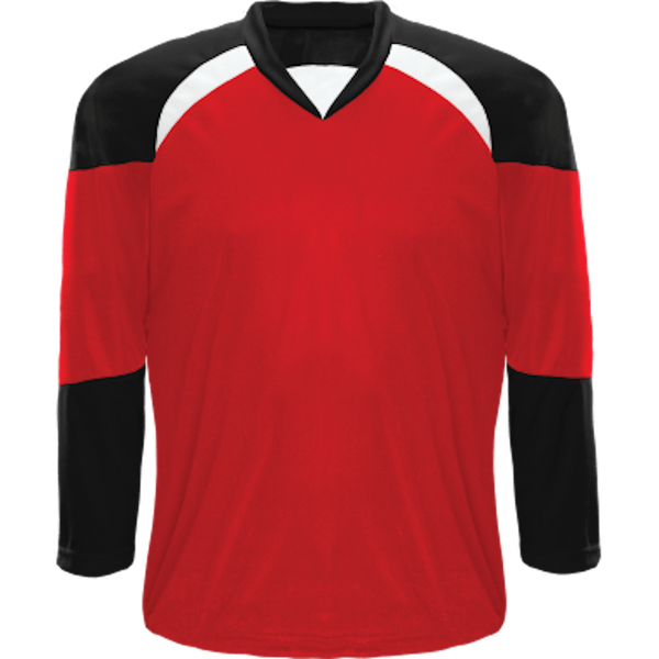 Economical Team Jersey: Red/Black/White