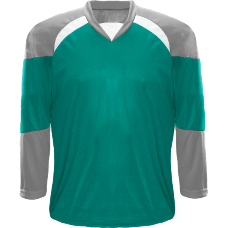 Economical Team Jersey: Teal/Grey/White