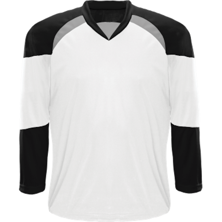 Economical Team Jersey: White/Black/Grey