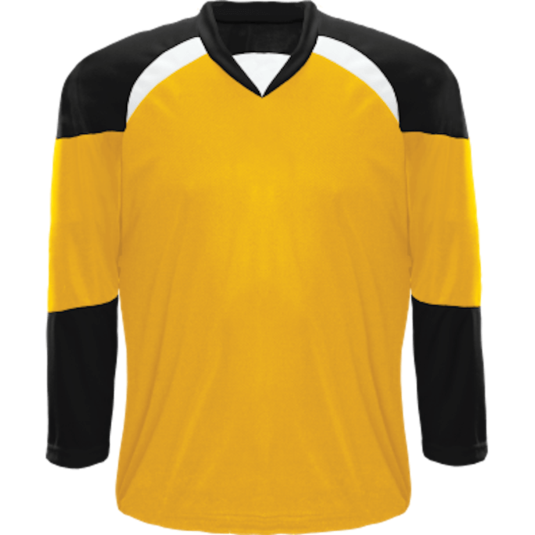 Economical Team Jersey: Gold/Black/White