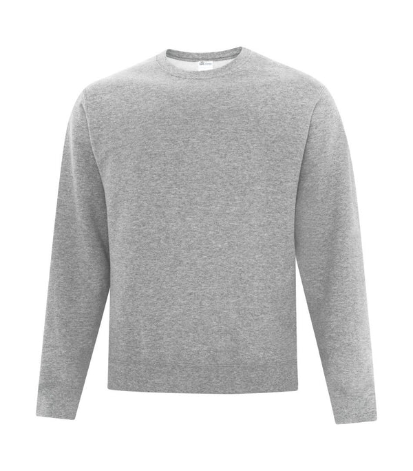 Basic Fleece Sweater: Crew Neck