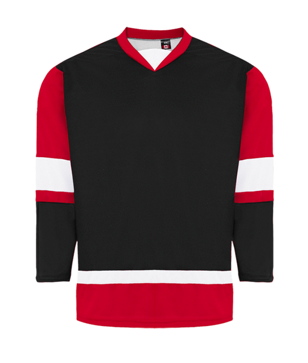 House League Jersey: Black/Red/White