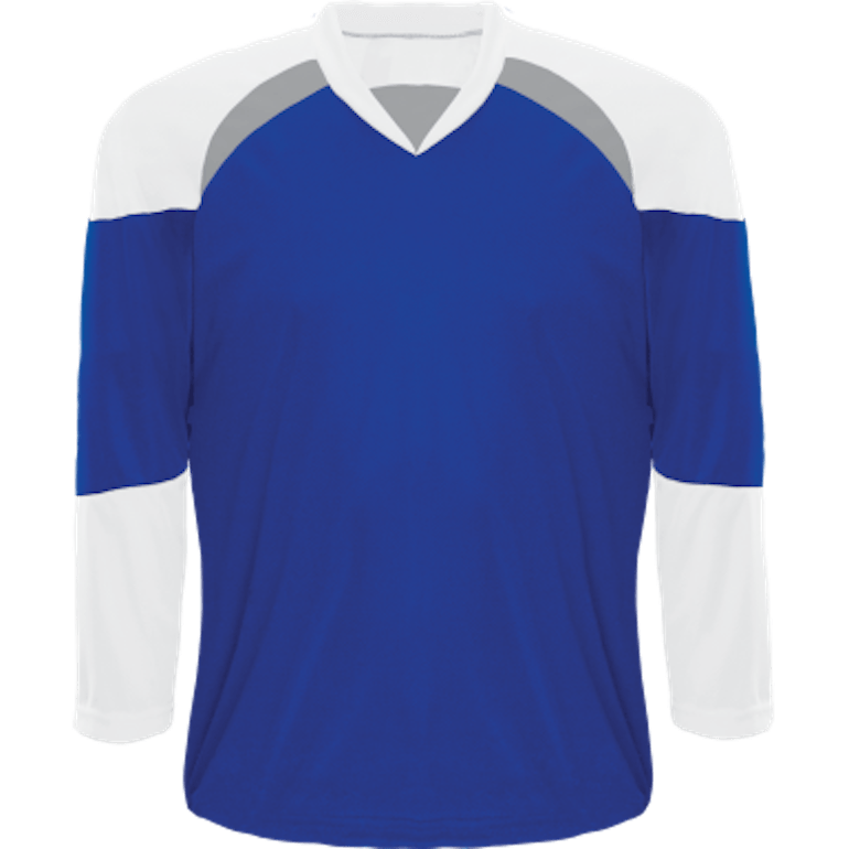 Economical Team Jersey: Royal Blue/White/Grey