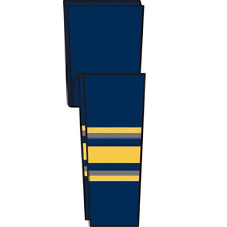 Knit Retro NHL Pattern Socks: Buffalo Sabres Navy
