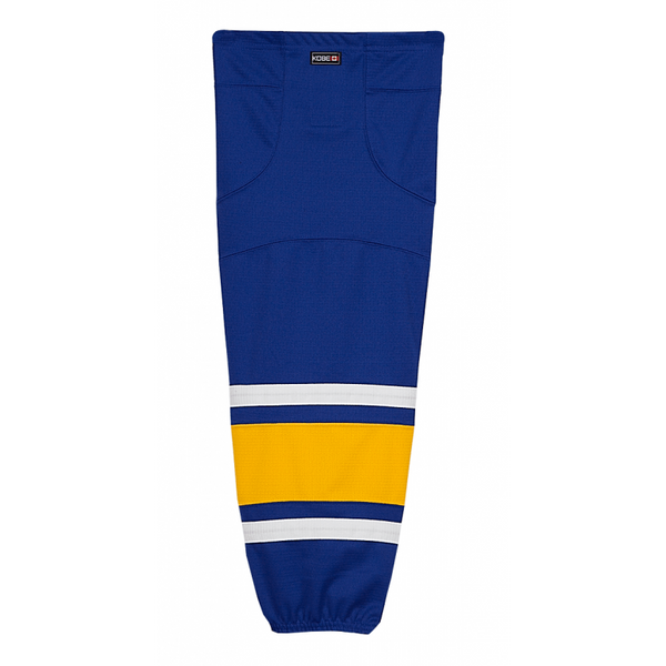 Premium NHL Pattern Socks: Charlestown Chiefs (Slap Shot) Blue - Canadian Jersey Superstore