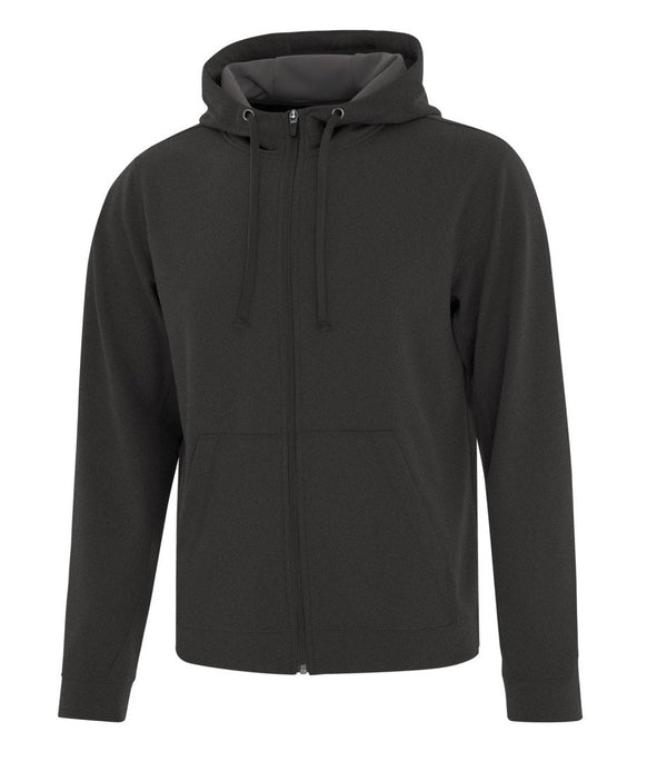 Performance Fleece Sweater:  Men's Cut Basic Solid Colours Full Zip