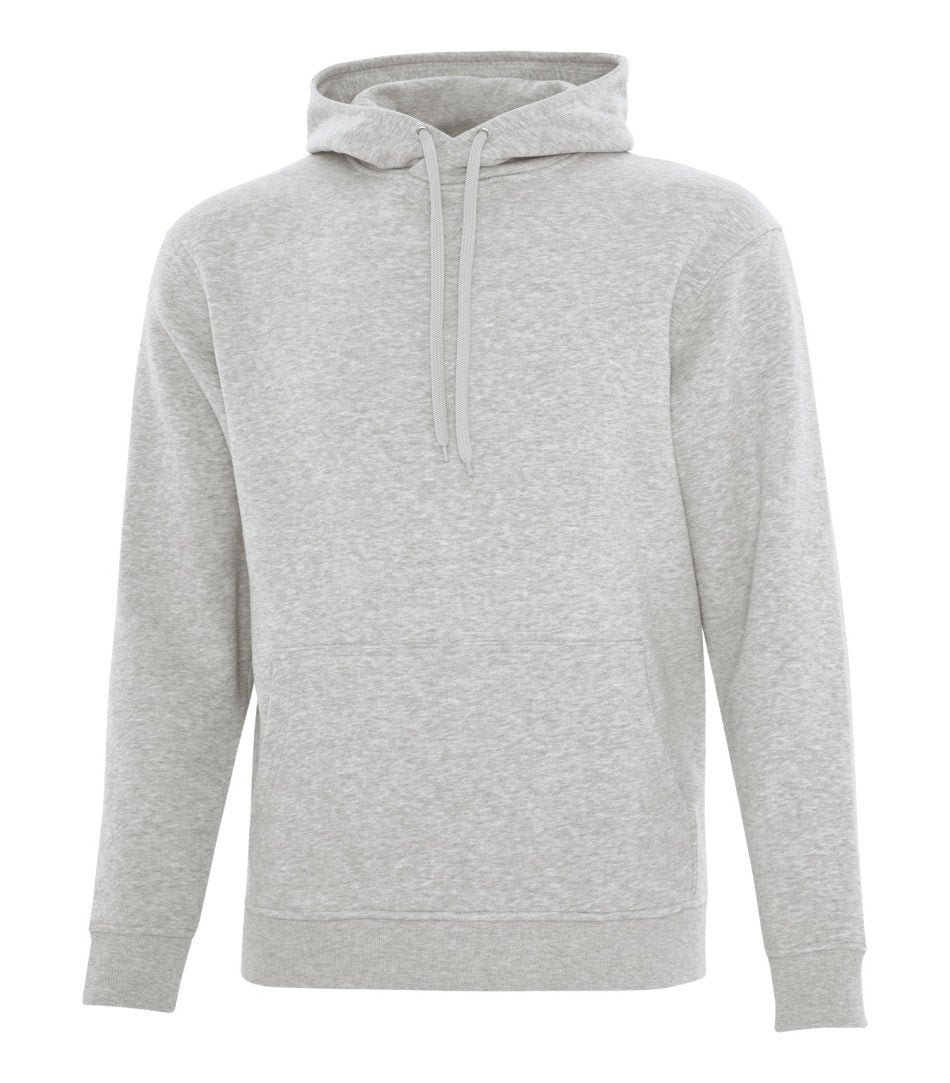 Premium Fleece Sweater: White Drawstring
