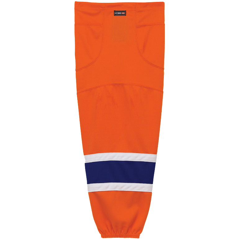 Premium NHL Pattern Socks: Edmonton Oilers Orange