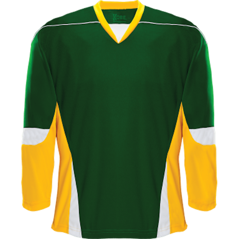 Alternative Team Jersey  Forest Green Gold White – JerseysMadeEasy.com™ 79f28170f18