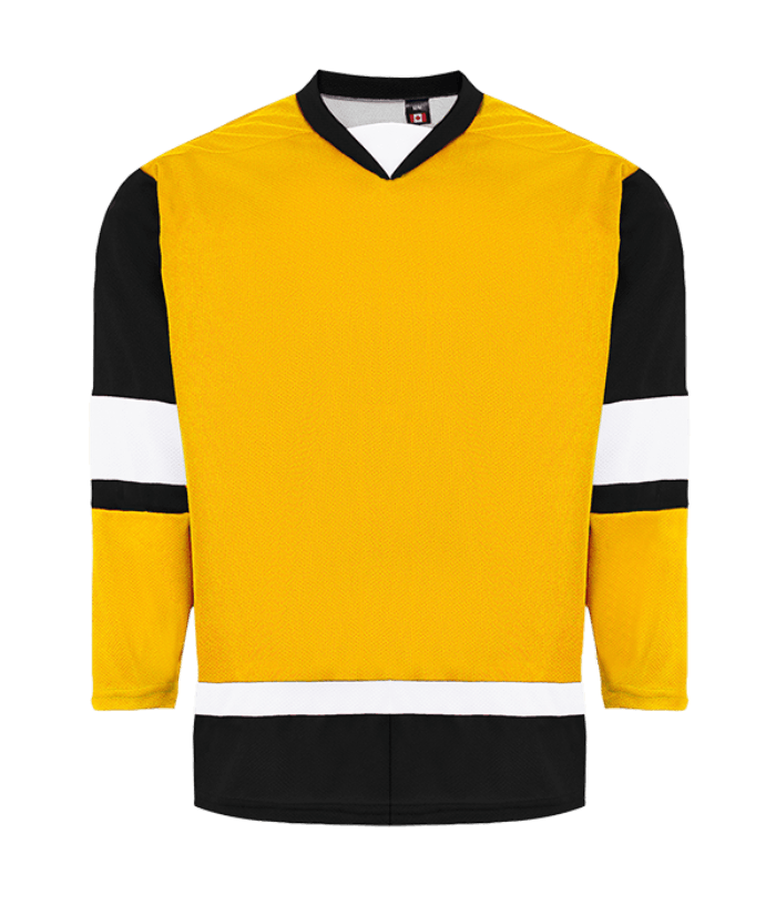 House League Jersey: Gold/Black/White