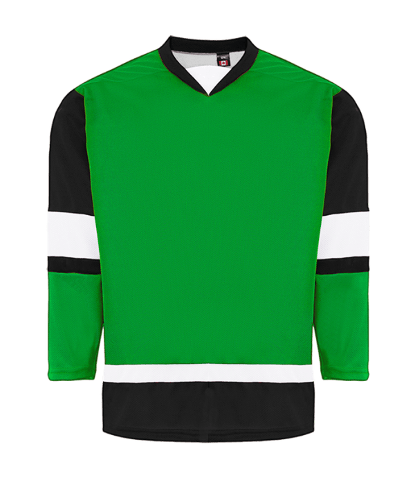 House League Jersey: Kelly Green/Black/White