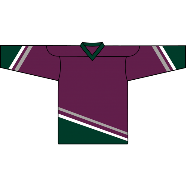 Retro Team Jersey: Mighty Ducks of Anaheim 1993 Eggplant - Canadian Jersey Superstore