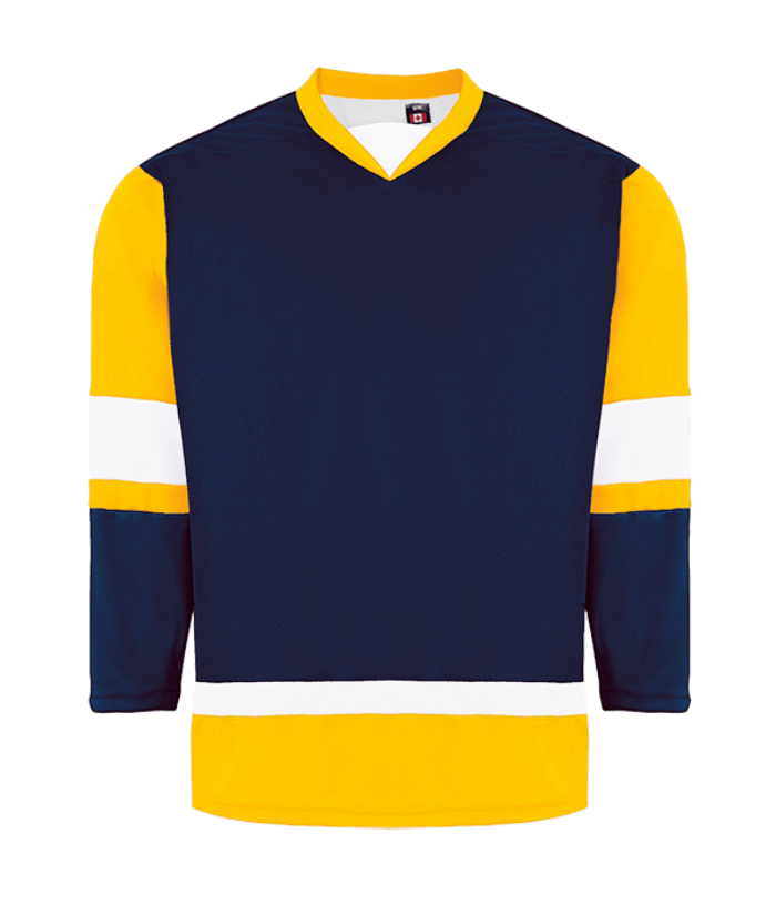 House League Jersey: Navy/Gold/White