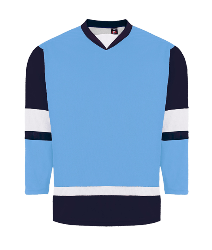 House League Jersey: Powder Blue/Navy/White