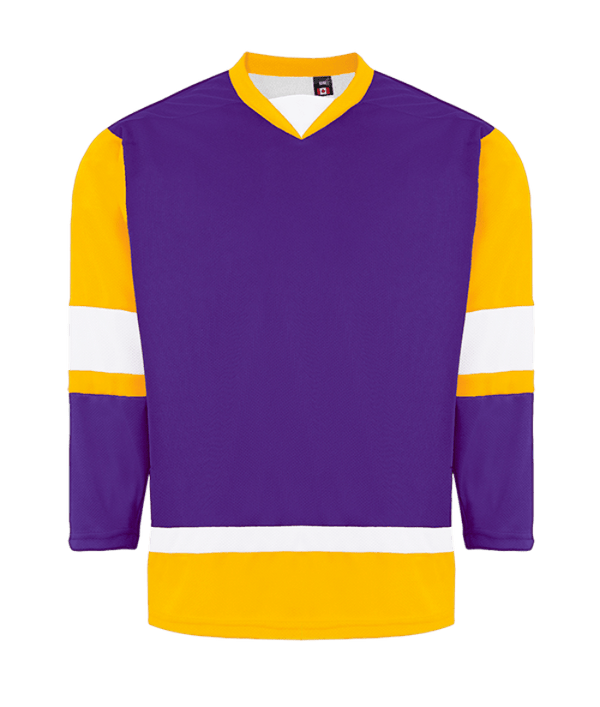 House League Jersey: Purple/Gold/White