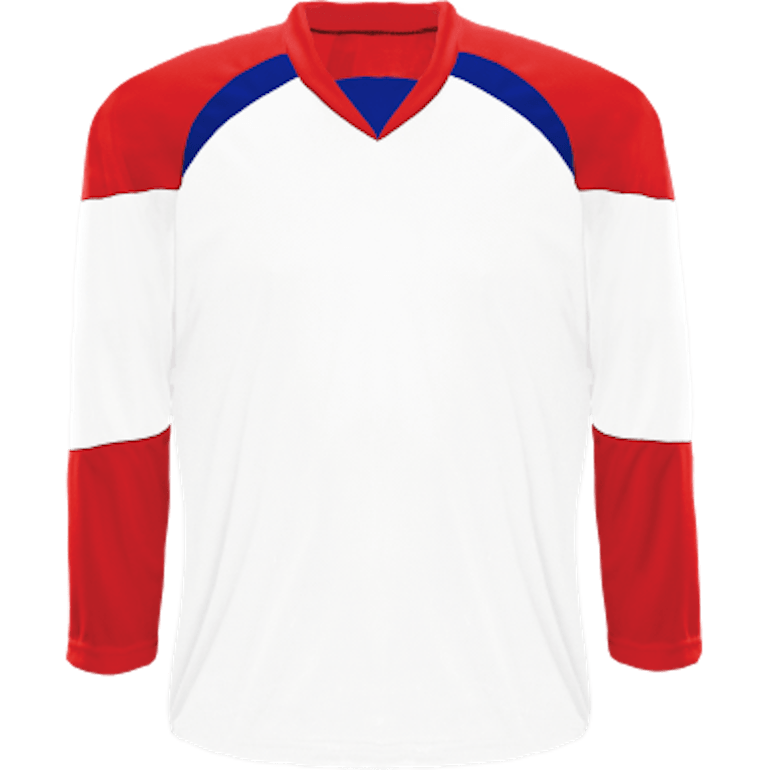 Economical Team Jersey: White/Red/Royal Blue