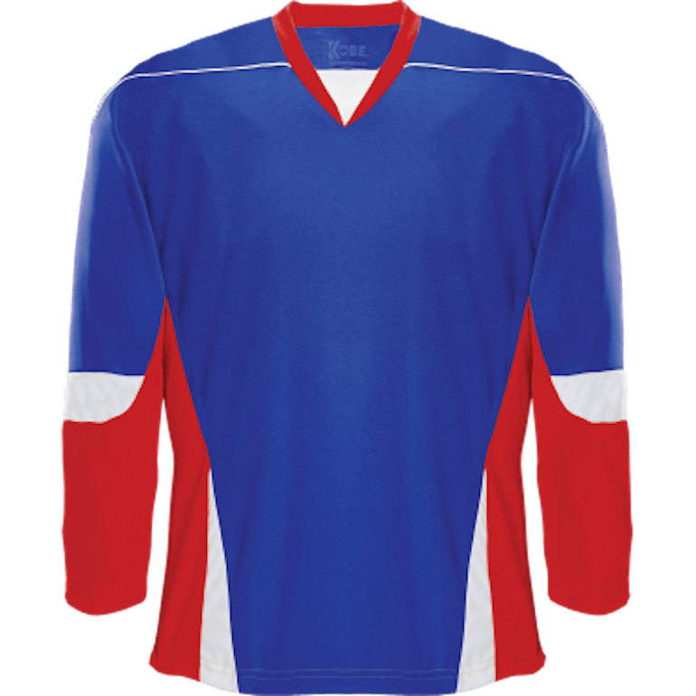 Alternative Team Jersey: Royal Blue/Red/White
