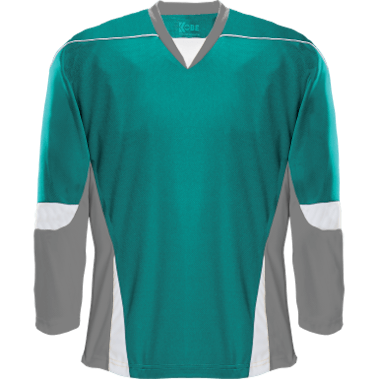 Alternative Team Jersey: Teal/Grey/White