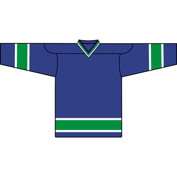 Retro Team Jersey: Vancouver Canucks Blue - Canadian Jersey Superstore
