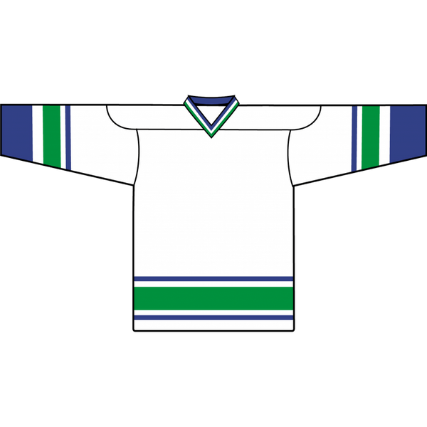 Retro Team Jersey: Vancouver Canucks White - Canadian Jersey Superstore