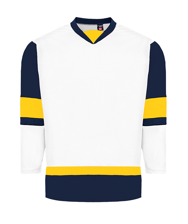 House League Jersey: White/Navy/Gold