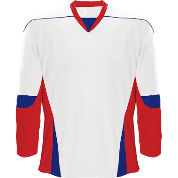 Alternative Team Jersey: White/Red/Royal Blue