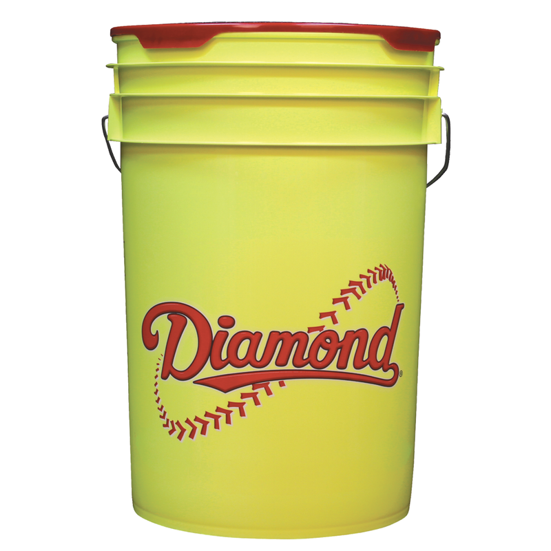 Yellow 6 Gallon Bucket - Diamond Dugout