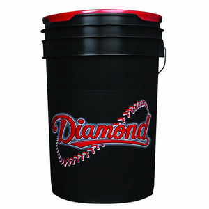 Black 6 Gallon Bucket - Diamond Dugout
